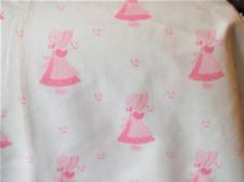 PAIR + 1 BN VINTAGE MONITOR DESIGNS CURTAINS PINK MOP HAT MARY CONTRARY FABRIC